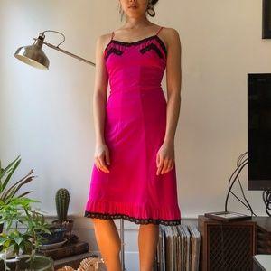 Jean-Paul Gaultier for Target hot pink slip dress